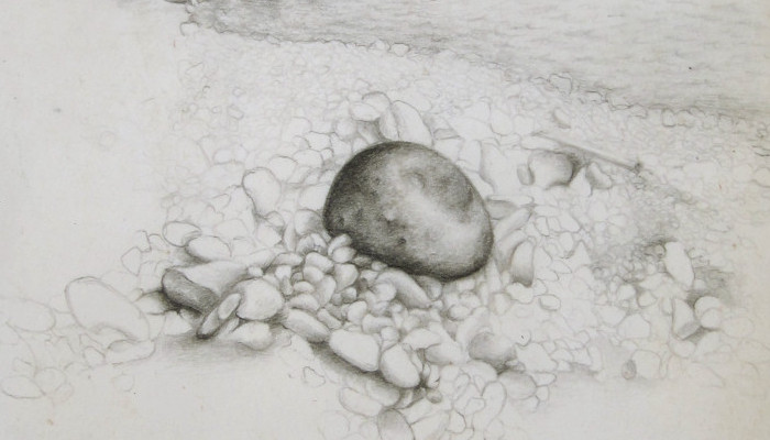 the land#1 2011, 13x21cm, pencil on paper