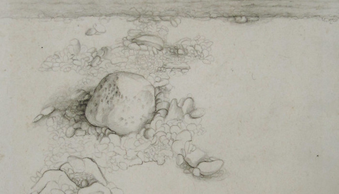 the land#2 2010, 13x17cm, pencil on paper